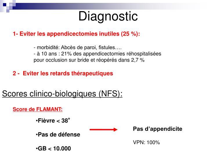 Scores clinico-biologiques (NFS):