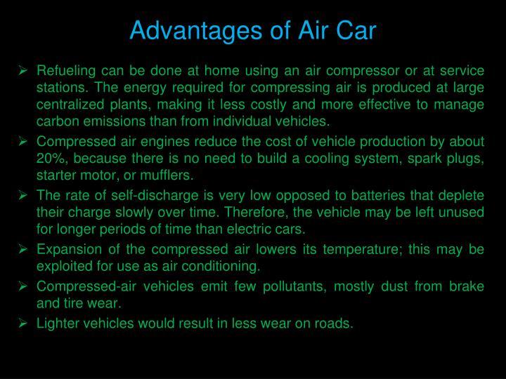 Advantages of Air Car