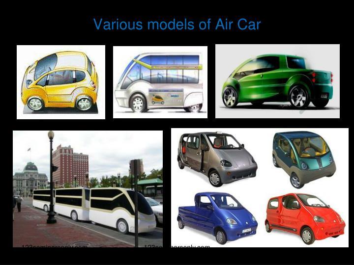 Various models of Air Car