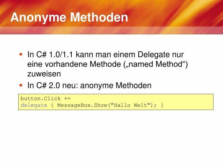 Anonyme Methoden