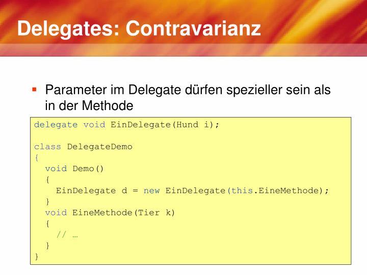 Delegates: Contravarianz