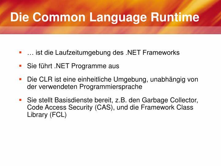 Die Common Language Runtime