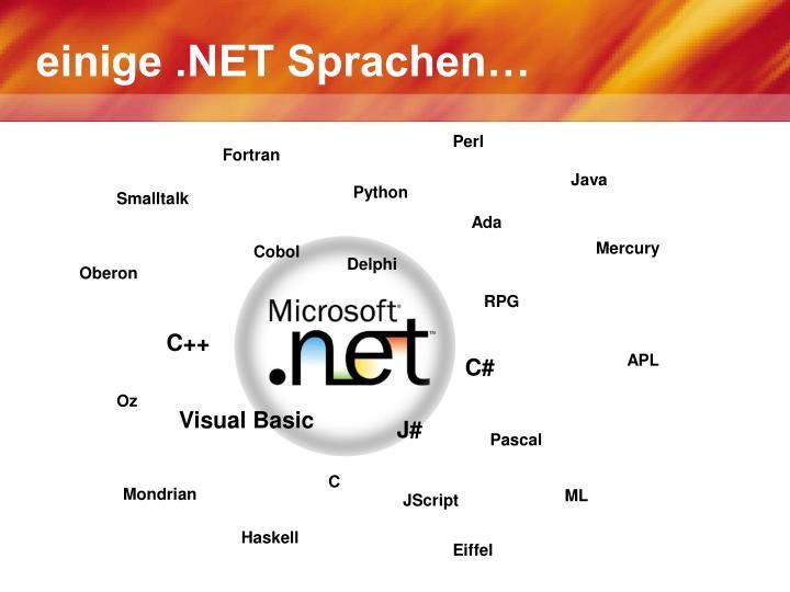 einige .NET Sprachen…
