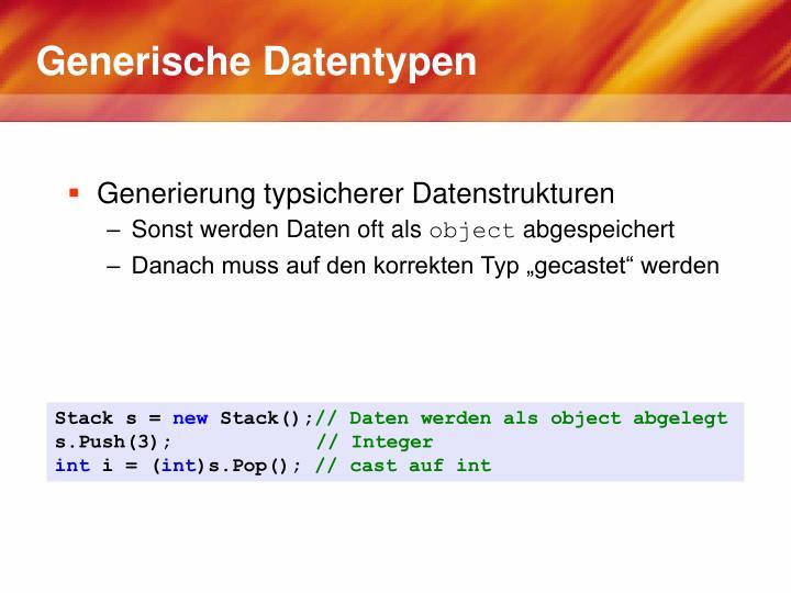 Generische Datentypen
