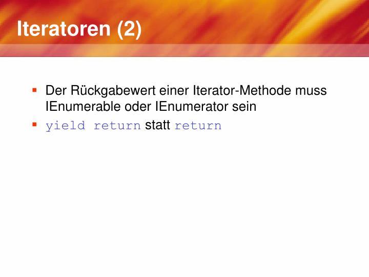 Iteratoren (2)