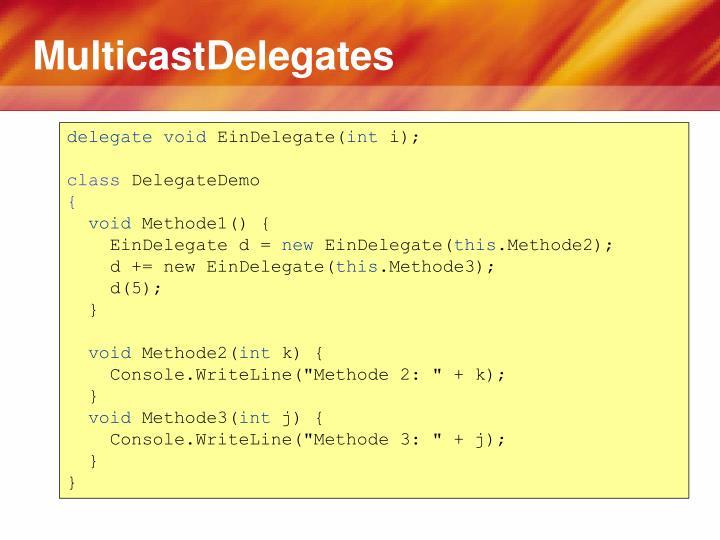 MulticastDelegates