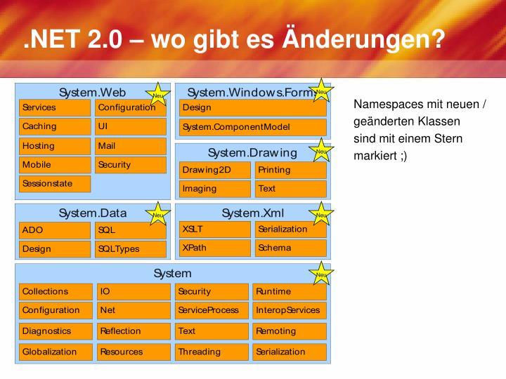 .NET 2.0 – wo gibt es Änderungen?