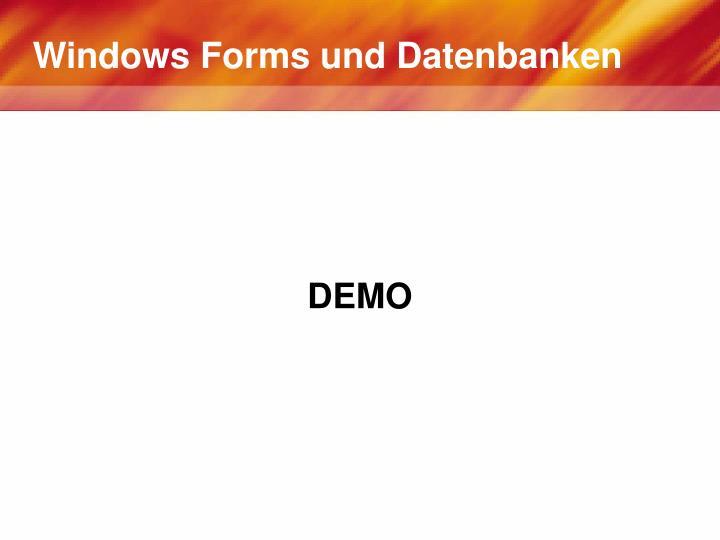 Windows Forms und Datenbanken