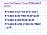 how do people cope with guilt genesis 3