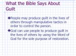 what the bible says about guilt