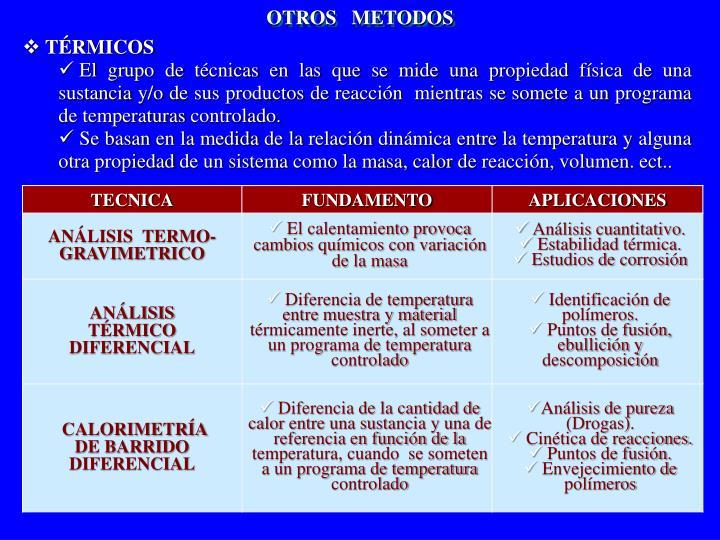 OTROS   METODOS