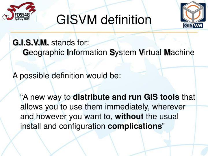GISVM definition