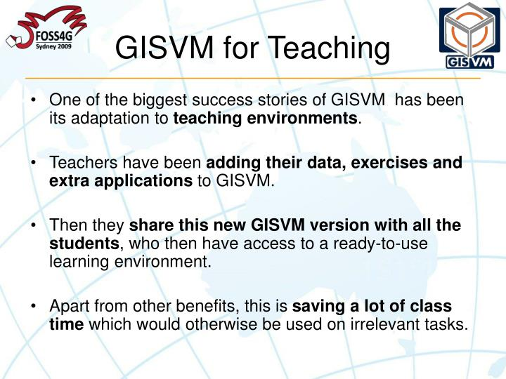 GISVM for Teaching