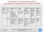 formulario 10 documentaci n de los procedimientos de desviaci n en el plan de appcc