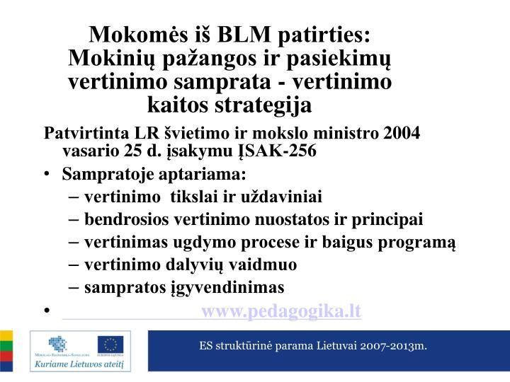 Mokoms i BLM patirties: