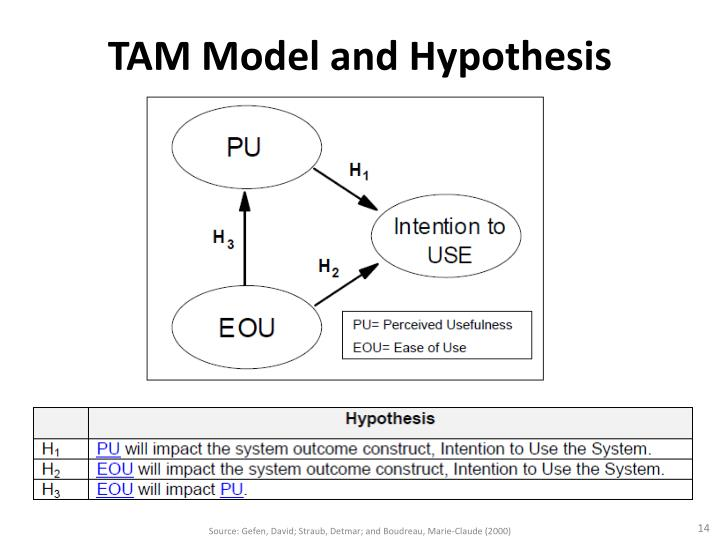 TAM Model and Hypothesis