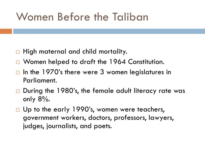 Women Before the Taliban