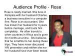 audience profile rose