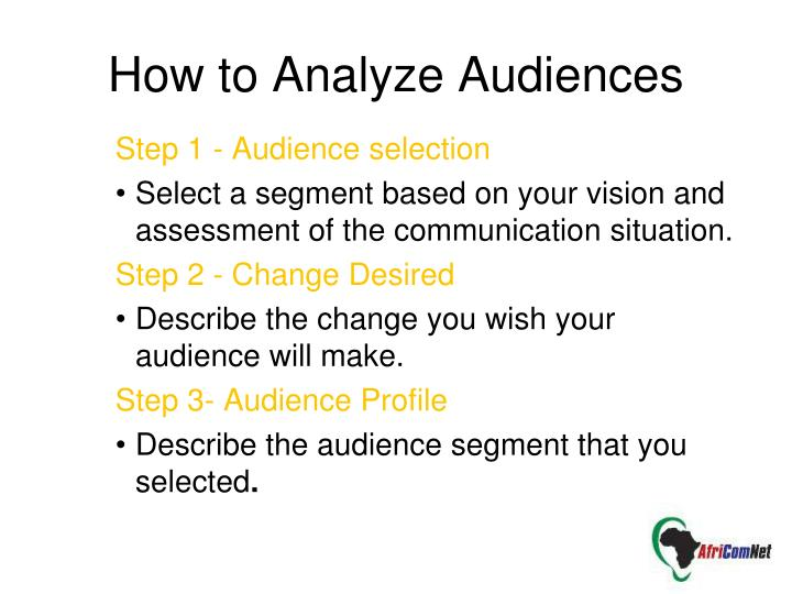 How to Analyze Audiences