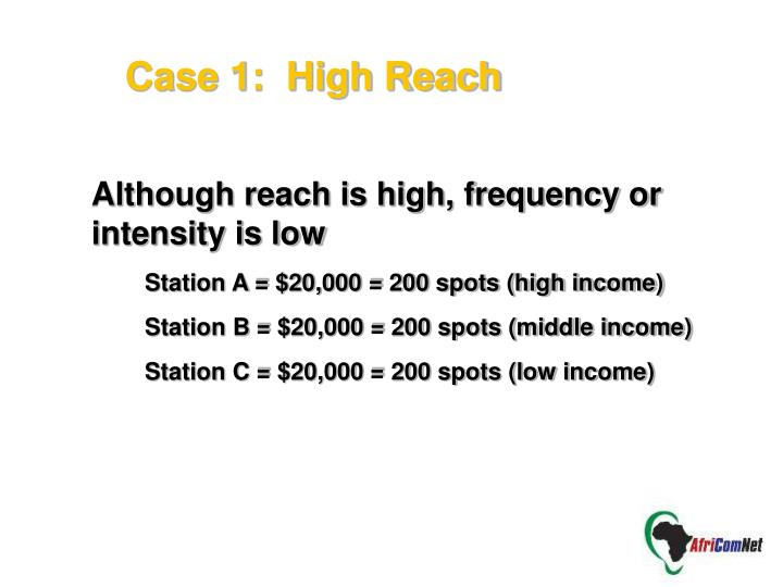 Case 1:  High Reach