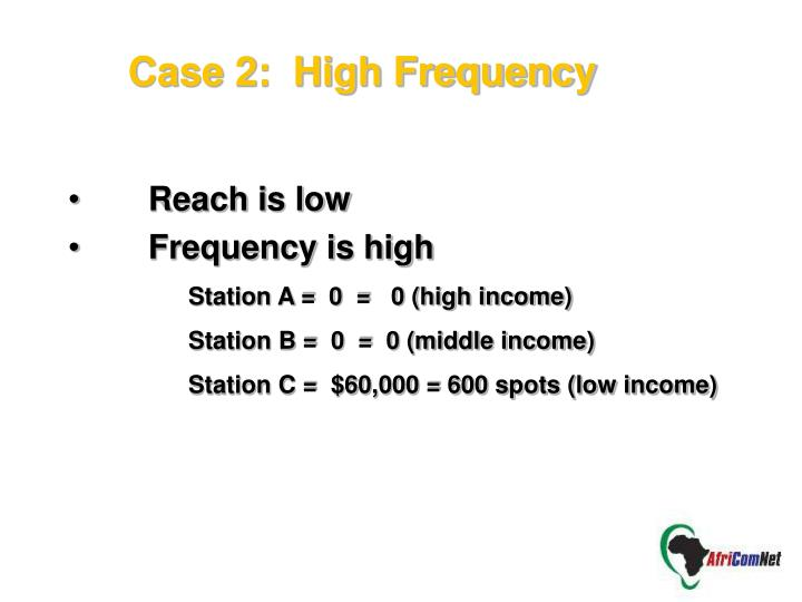 Case 2:  High Frequency