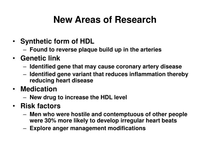 New Areas of Research