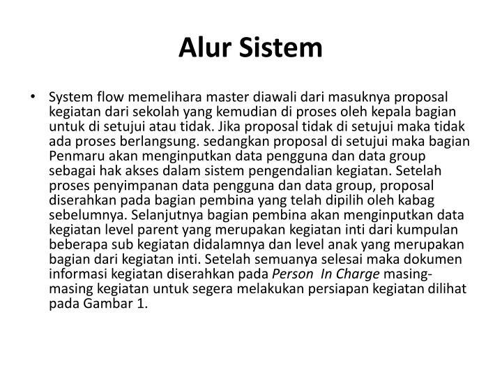 Alur Sistem