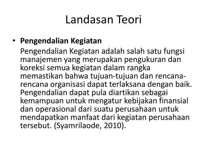 Landasan Teori