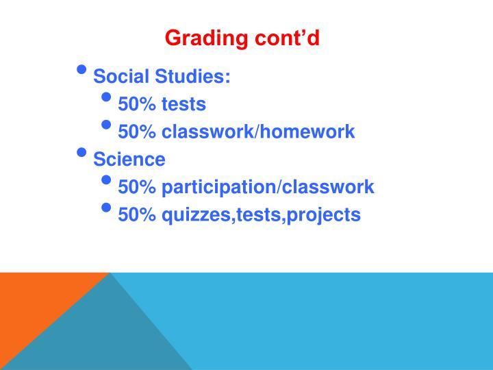 Grading cont'd