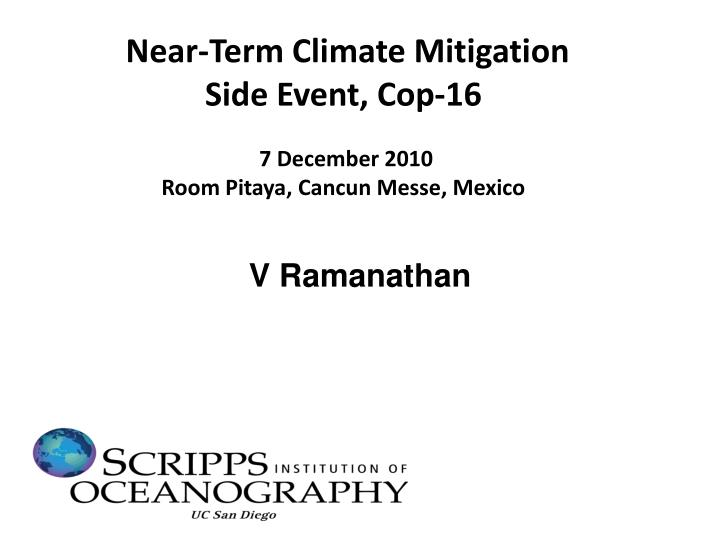 Near-Term Climate Mitigation