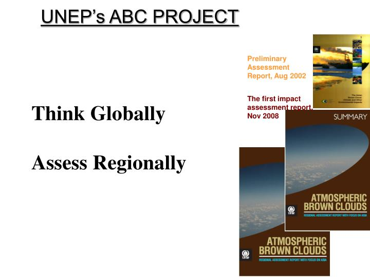 UNEP's ABC PROJECT