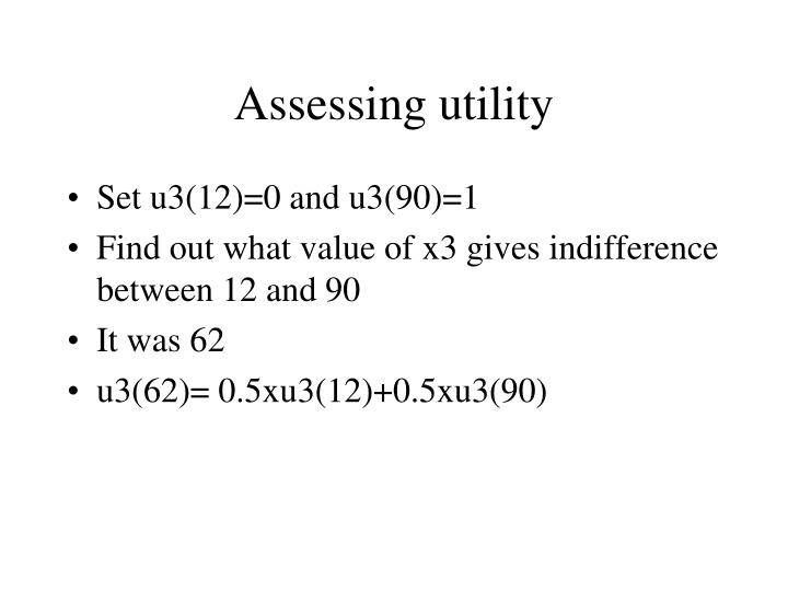 Assessing utility