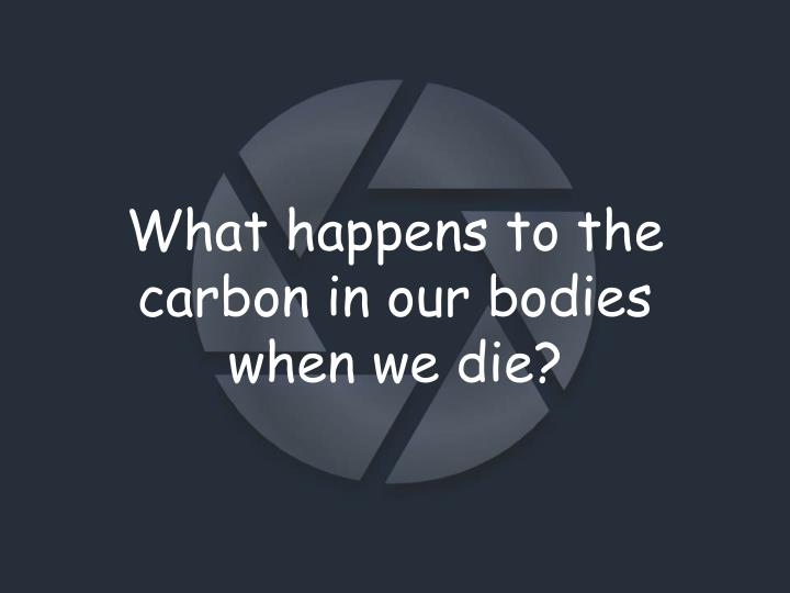 What happens to the carbon in our bodies when we die?