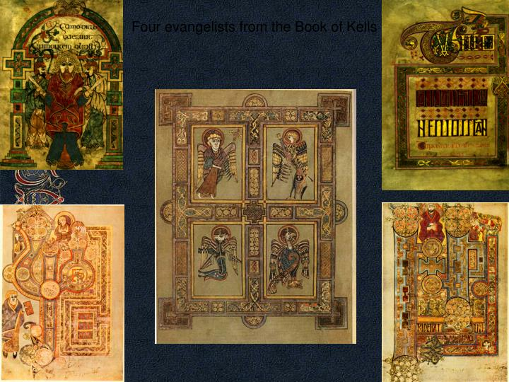 Four evangelists from the Book of Kells