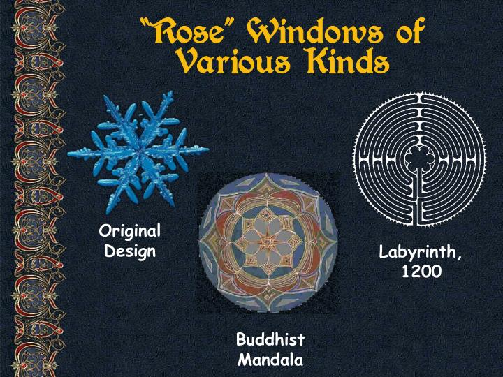 """Rose"" Windows of Various Kinds"