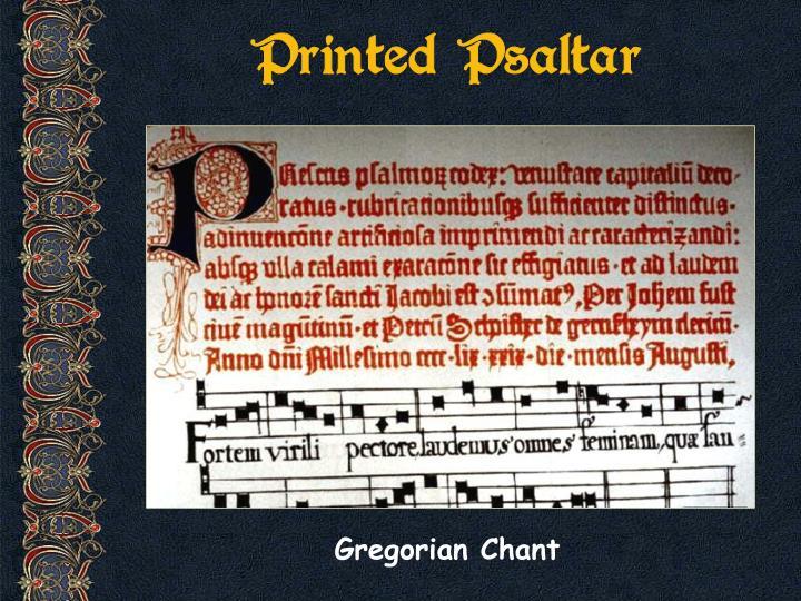 Printed Psaltar
