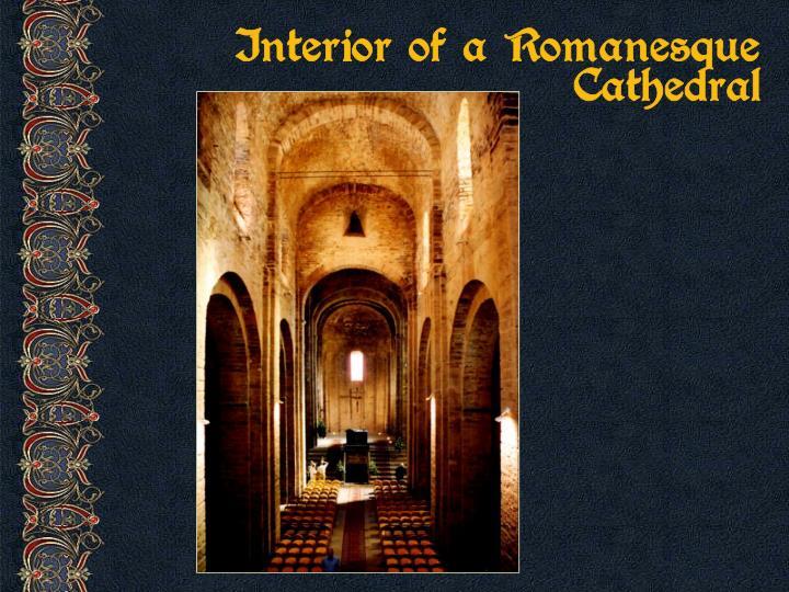 Interior of a Romanesque