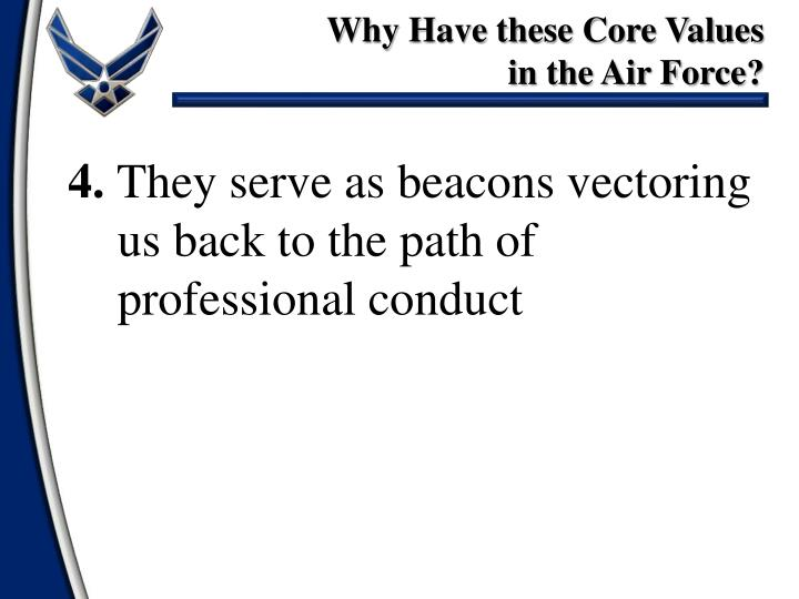 integrity and the air force The standards of conduct provides guidance to air force personnel on standards of conduct, ethics, and conflicts of interest  and integrity that motivate .