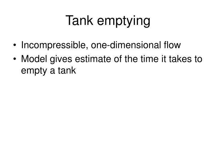 Tank emptying
