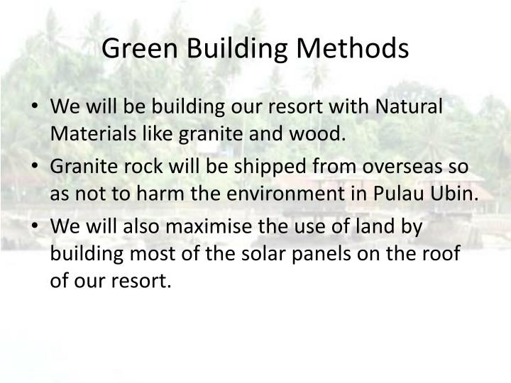 Green Building Methods