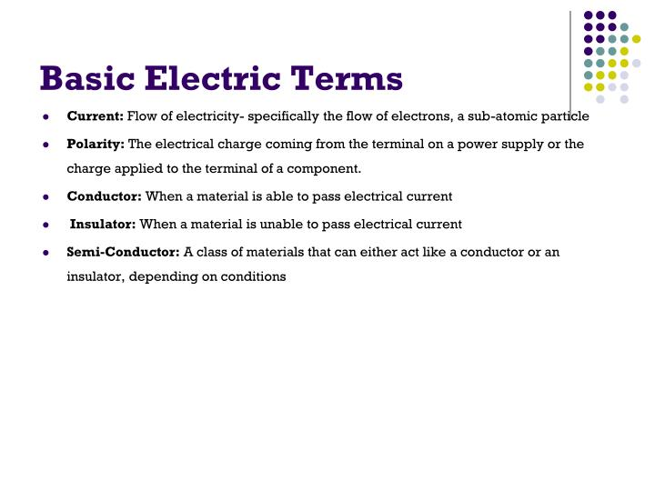 Basic Electric Terms