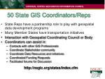 50 state gis coordinators reps