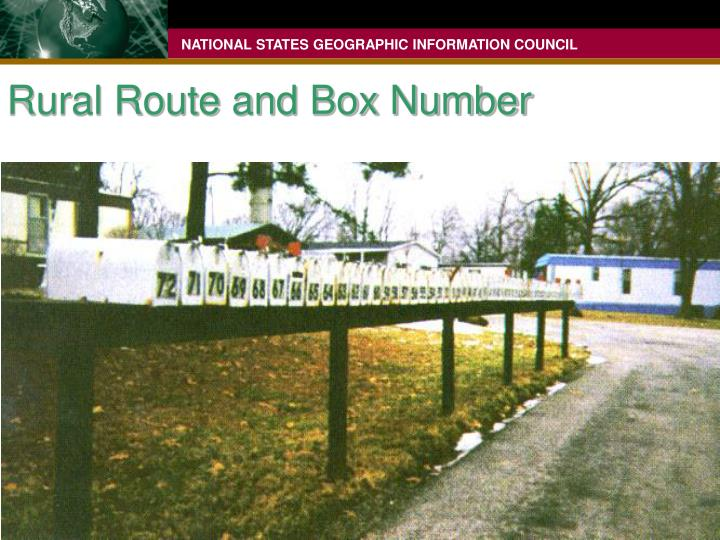 Rural Route and Box Number
