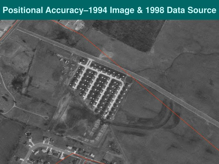Positional Accuracy–1994 Image & 1998 Data Source