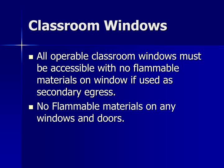 Classroom Windows