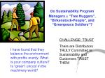 do sustainability program managers tree huggers birkenstock people and greenpeace soldiers