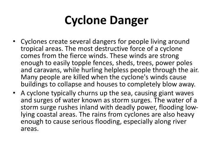 Cyclone Danger