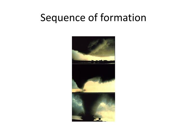 Sequence of formation