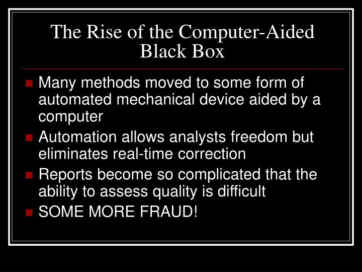 The Rise of the Computer-Aided