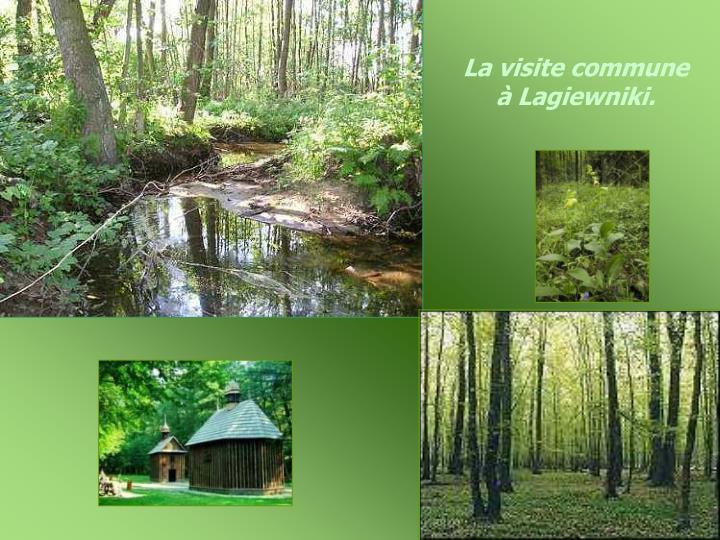 La visite commune à Lagiewniki.